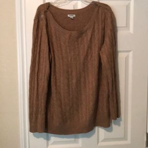 Camel XXL Old Navy Cableknit Sweater